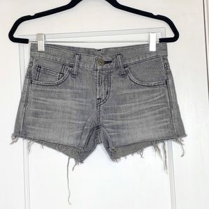 Mousy Japanese Denim Shorts Distressed Size 25